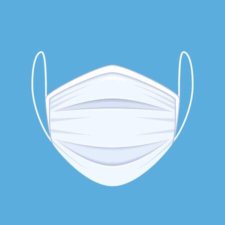 Medical or surgical face mask. Çizim