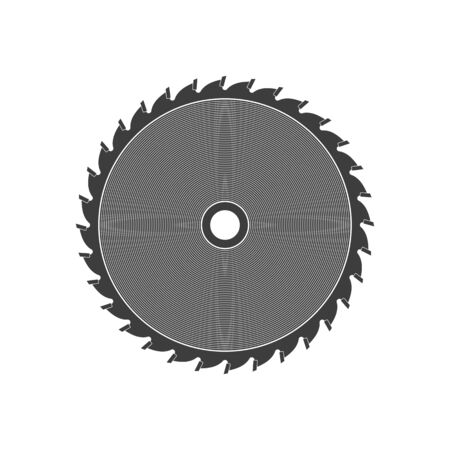 Saw disc vector.