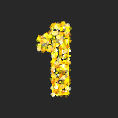 Gold glittering number 1. Фото со стока - 159567488