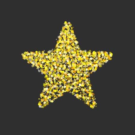 Gold glitter star vector. Иллюстрация