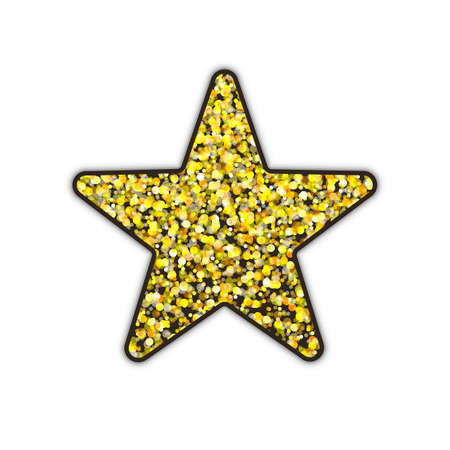 Gold glitter star. Иллюстрация
