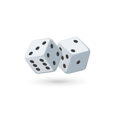 Two white dice.
