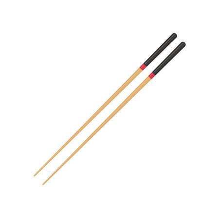 Pair wooden chopsticks. Иллюстрация
