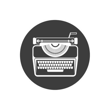 Typewriter icon. Flat color design. Vector illustration Ilustração Vetorial