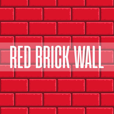 Red brick wall seamless background. Vector eps10 illustration. Tiled pattern for continuous replicate. Old red brick wall.