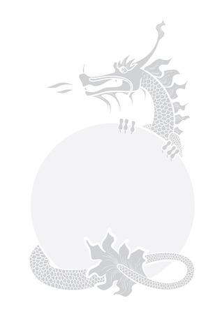 Illustratie van een hand tekening Chinese draak Stock Illustratie