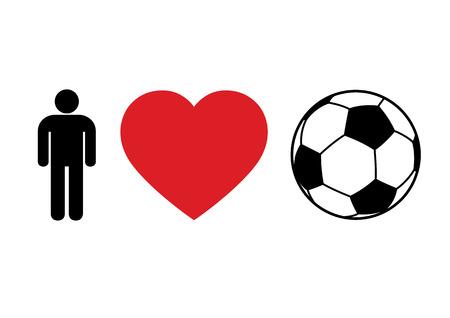 フットボールのコンセプト '男性愛サッカー' 印刷用やデザイン  イラスト・ベクター素材