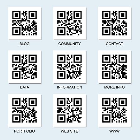 インターネットのベクトル コレクション関連、マイデザインの qr コードです。