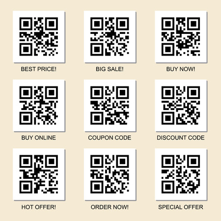 Vector collection of marketing related qr codes for your design Stock Illustratie