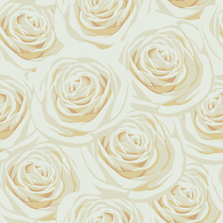 Light seamless pattern with beige roses