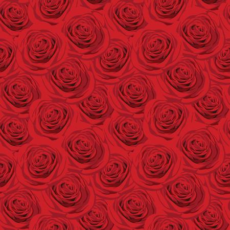 豪華な赤いバラのシームレス パターン