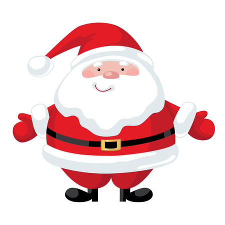 santa claus hats: Smiling cartoon Santa Claus character