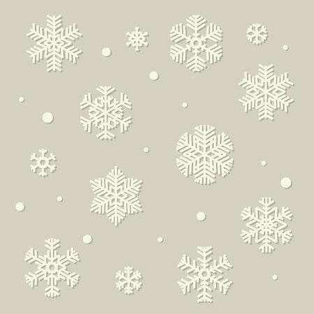 ベクトル ホワイト ペーパー スタイル雪片のコレクション