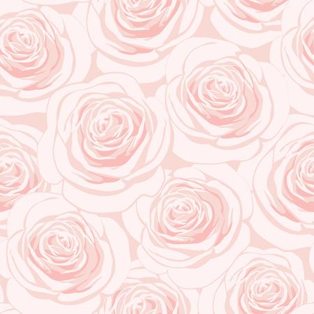 ピンクのバラとシームレスなパターン