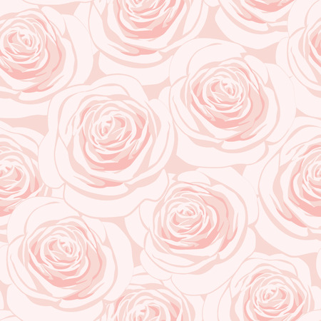 Seamless pattern with pink roses Stock Illustratie