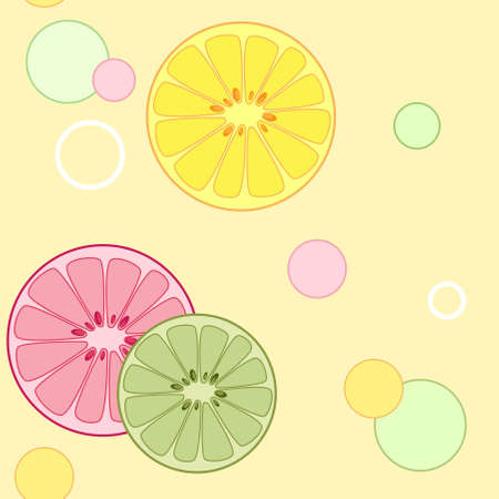 vector citrus seamless pattern with lemon and orange slices Vector