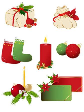 set of vector Christmas icons Stock Vector - 7971063