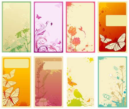 splashed: set of vertical business cards
