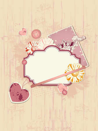 vector scrapbooking kit for Valentine Vector