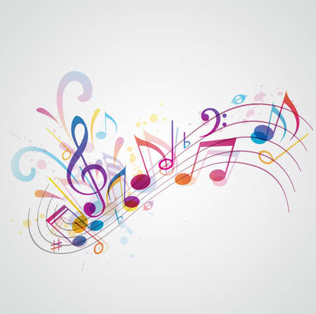 notes: Music background with notes