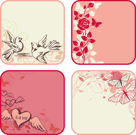 Vector decorative  backgrounds  for Valentine Vector
