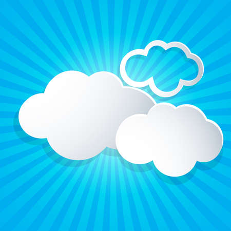 ร   ร   ร   ร  ร ยข  white clouds: Blue background with white clouds