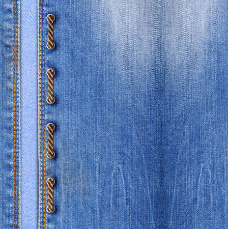Blue jeans texture background with lacing