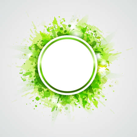 shining: Green abstract shining vector round background Illustration