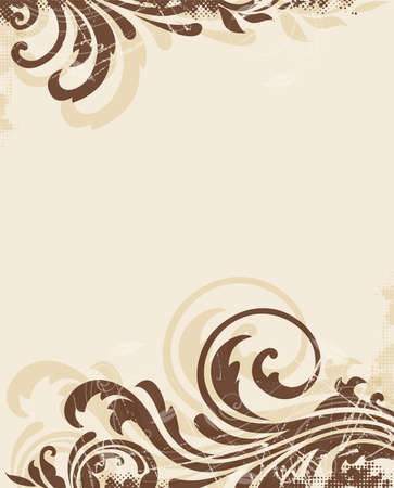 Decorative vector vintage floral background