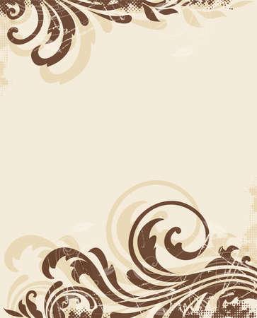 Decorative vector vintage floral background