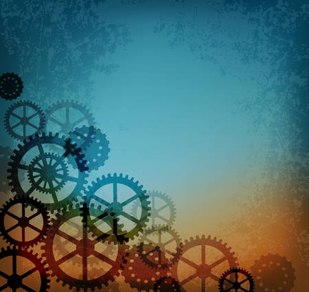 steampunk: Abstract industrial background in the style of steampunk