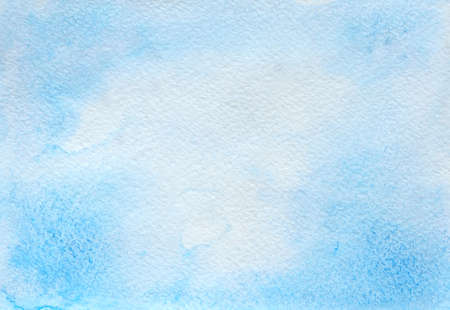 Abstract blue watercolor hand drawn background Stok Fotoğraf