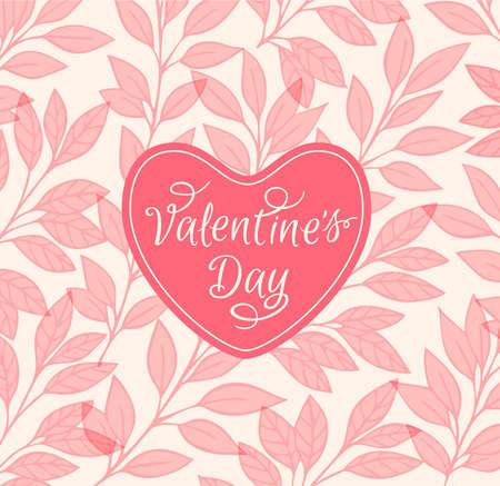 background red: fondo floral rosado decorativo con el coraz�n para el d�a de San Valent�n