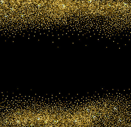 black background abstract: Vector abstract gold glittering background for design