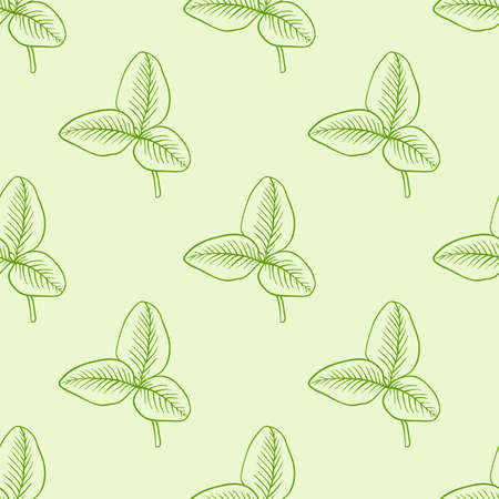 seamless clover: Vector seamless pattern with green clover leaves