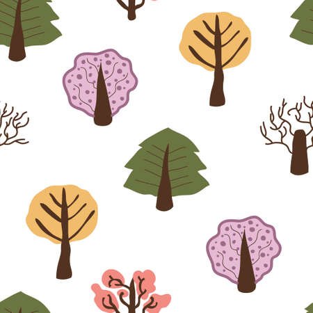 Doodle abstract floral seamless pattern Vector