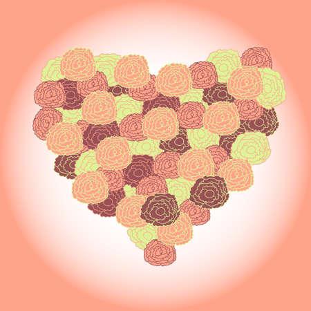 selebration: bouquet in shape of heart