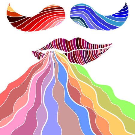 somebody: Colorful lips with smoke and mustaches