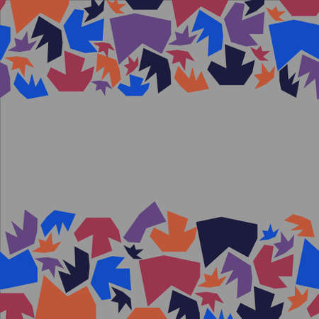 horisontal: Geometric horisontal seamless abstract pattern  Illustration