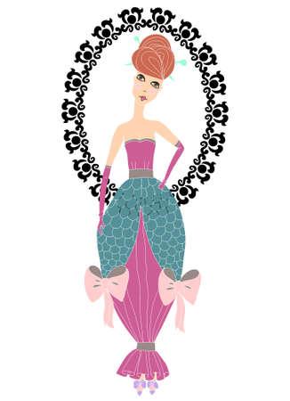 coquette: Coquette pretty princess with frame