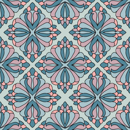 Geometric seamless abstract pattern  Vector