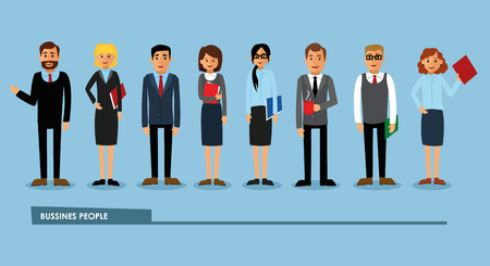 Selection of business people. Illustration
