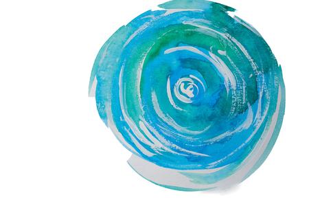 Watercolor Texture, whirlpool Stok Fotoğraf