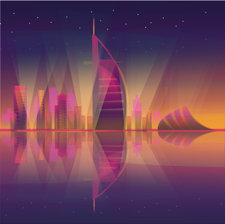 Night view of Dubai