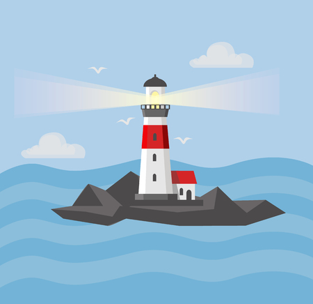 The image of the lighthouses