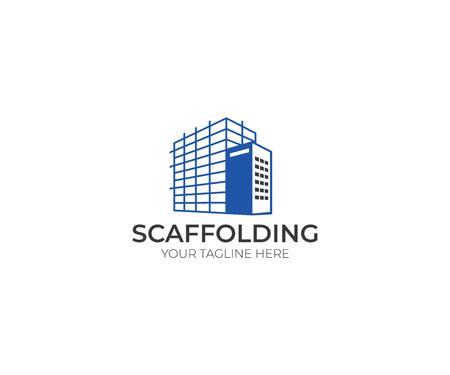 Scaffolding icon Template. Construction Vector Design. Scaffold Illustration