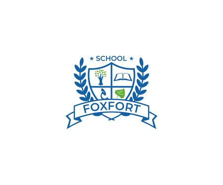 école crest logo template template template Logo