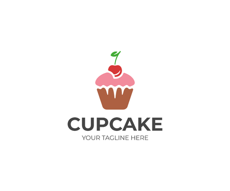 Cupcake Template. Muffin Vector Design. Sweet Pastries Illustration Illustration