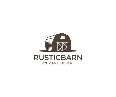 Barn Logo Template OF Farm Vector Design. Building Illustration