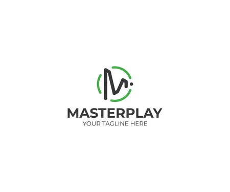 Letter M Play Symbol Logo Template. Play Button Vector Design. Play Letter M Illustration Illustration